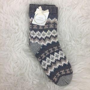 NWT Lemon for Anthropologie Socks Gray One Size